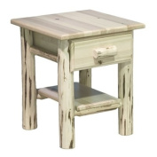 Montana Woodworks MWNDV Nightstand with Drawer and Shelf - Clear Lacquer