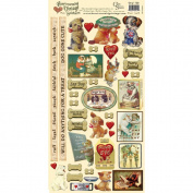 Heartwarming Vintage Cardstock Stickers 15cm x 30cm Sheet-Dog's Life