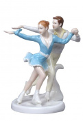 Unicorn Studios BP00557AA Crossovers Ice Skaters Porcelain Sculpture