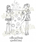 Stamping Bella LL130 Stamping Bella Unmounted Rubber Stamp-Uptown Girls Clarissa And Camille