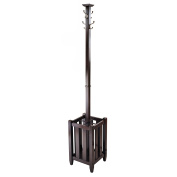Winsome Memphis Coat Tree and Umbrella Rack in Cappuccino