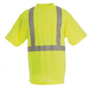 Berne Apparel HVK002YWT680 6X-Large Tall Hi-Visibility Short Sleeve Pocket Tee - Yellow