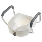 Carex Health Brands B311C0 E-Z Lock Raised Toilet Seatwitharms