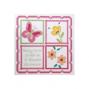 Bucilla 318197 Sophie Birth Record Counted Cross Stitch Kit-29cm . x 29cm . 14 Count