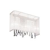 Dainolite 85306W-44-119 1 Light Wall Sconce with White Organza Rectangular Shade