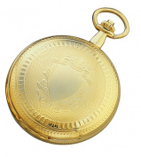 Charles-Hubert Paris 3909-G Gold-Plated Brass Hunter Case Mechanical Pocket Watch