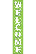 TEACHER CREATED RESOURCES TCR4854 LIME POLKA DOTS WELCOME BANNER