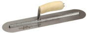 Marshalltown 10.2cm . X 45.7cm . Round-End Finishing Trowel With Curved Wood Handle MXS81F