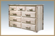 Montana Woodworks MW9DV Dresser with 9 Drawer - Clear Lacquer