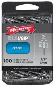 Arrow Fastener Co. RLS.13IP 100 Count .33cm . Steel Rivets