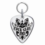 Rockinft Doggie 844587000028 Rock Star Sterling Silver Guitar Pick Tag