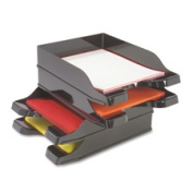 Deflect-O Corporation DEF63904 Multi-Directional Stacking Tray- 25cm .x13-.190cm .x2-.130cm .- 2-ST- BK