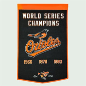 Baltimore Orioles Official MLB 60cm x 90cm Dynasty Wool Banner Flag by Winning Streak