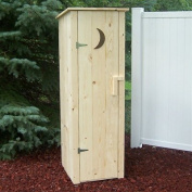 Prairie Leisure Design Outhouse Storage Shed - Unfinished Pine