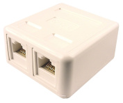 CABLES UNLIMITED UTP-7802W Cat6 Dual Surface Mount Jack White