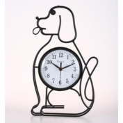 Maples Clock W902 Dog Silhouette Table-Wall Clock