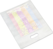 Bags & Bows by Deluxe 54-1215-FHD9 White Frosted High Density Merchandise Bags - Case of 500