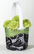Lillian Rose FB750 Flower Basket - Green and Black
