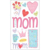 Sticko E5201075 Sticko Seasonal Stickers-Happy Mothers Day