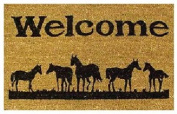 DC MILLS 12029 Horses Welcome - Vinyl Back Mat - 18 X 30 Inches