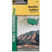 National Geographic TI00000100 Map Of Boulder-Golden - Colorado
