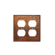 Premier Copper Products SO4 Switchplate - Double Duplex with 4 Hole Outlet Cover