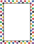 TEACHER CREATED RESOURCES TCR7687 colourful PAW PRINTS BLANK CHART
