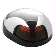 Attwood Quasar & #153; 2-Mile Deck Mount, Red Sidelight - 12V - HIPP/Chrome Housing w/Black Base