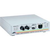 Allied Telesyn AT-FS201 Fast Ethernet Media Converter 1 x RJ-45 10-100Base-TX Duplex 1 x ST 100Base-FX Twisted Pair Fiber Media Converter AT-FS201-90