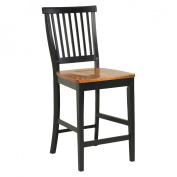 Home Styles Wood Counter Stool 60cm , Black and Cottage Oak