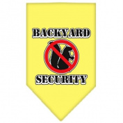 Mirage Pet Products 66-03 SMYW Backyard Security Screen Print Bandana Yellow Small