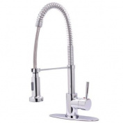 Kingston Brass GS8881DL Gourmetier GS8881DL Concord Single Handle Pull-Down Spray Kitchen Faucet Chrome