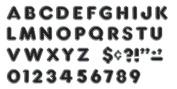 Trend Enterprises Inc. T-79047 Black 10cm Colourful Chrome Ready Letters