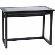 Office Star No-Tools Assembly 110cm Meridian Computer Desk, Ebony
