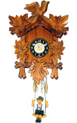 Alexander Taron 126SQ Boy with Swing Carved Quartz Wall Clock
