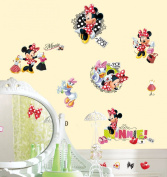 RoomMates RMK2121SCS Mickey and Friends - Minnie Loves to Shop Peel and Stick Wall Decals
