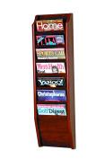 Wooden Mallet MR36-7MH Cascade 7 Pocket Magazine Rack in Mahogany