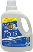 Earth Friendly Products Ecos Liquid Laundry Detergent, Free and Clear, 5030ml