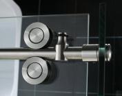 DreamLine Enigma 90cm by 180cm Fully Frameless Sliding Shower Enclosure, Clear 1.3cm Glass Shower, Polished Stainless Steel Finish