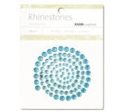 Kaisercraft 387459 Self-Adhesive Rhinestones 100-Pkg-Aqua