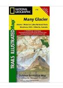 National Geographic Maps TI00000314 Many Glacier-Glacier National Park