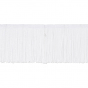 Expo IR4426-WH Chainette Fringe 10cm . Wide 20 Yards-White - Case of 20