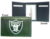 Oakland Raiders Embroidered Leather Tri-Fold Wallet