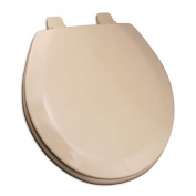 Jones Stephen C1B4R2-30 Deluxe Molded Round Wood Toilet Seat with Closed Front- Fawn Beige