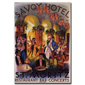 Savoy Hotel St. Moritz-Gallery Wrapped 24x32 Canvas Art