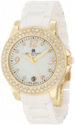 Charles-Hubert Paris 6789-W Gold-Plated Stainless Steel Case Ceramic Band White Dial Watch
