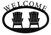 Village Wrought Iron WEL-119-S Small Welcome Sign-Plaque - Adirondack Chairs