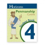 Alpha Omega Publications JLP401 Horizons Penmanship 4 Student Workbook