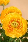 FBR549-YE 19 in. Ranunculus Bush Yellow- Case of 6