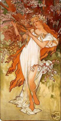 Hot Stuff Enterprise 3738-12x18-AD Spring Alphonse Mucha Poster